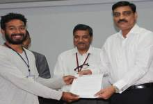 Photo of TCS offer letter distributed at Kaziranga University