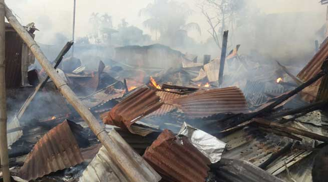 Dibrugarh- 20 Shops Gutted in a Fire