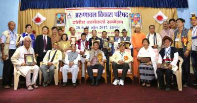 Khandu Appreciated the role of Arunachal Vikas Parishad