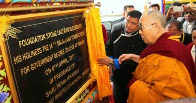 Tawang- Dalai Lama laid the foundation stone for a Government Degree College