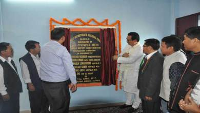 Khonsa- Chowna Mein inaugurates the District Secretariat Building