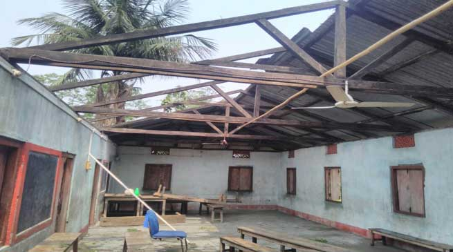 Kokrajhar- Cyclonic storm causes extensive damage in lower Assam