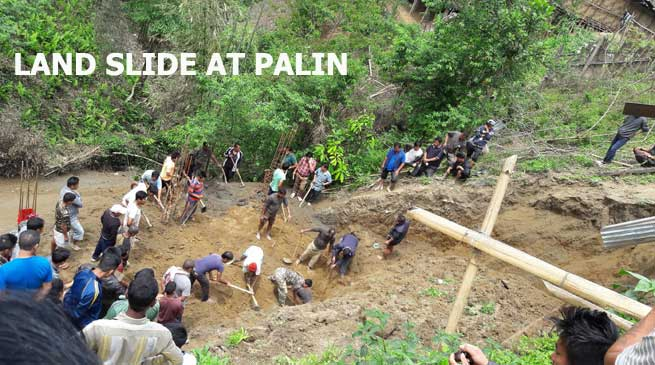 Three Dead in Landslide in Palin- CM Expressed Shock and Sorrow