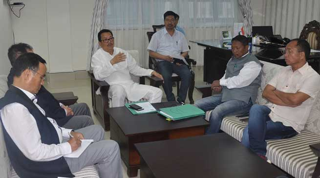 Dy CM Discuss Issues related to Chandranagar - Itanagar Four Lane Highway