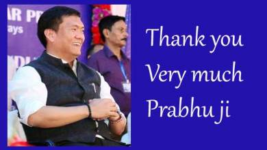 Photo of Khandu says Thanks to Prabhu for Railway projects in Arunachal
