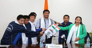 Khandu today flagged-in Mt Kangto Exploration Arunachal Team