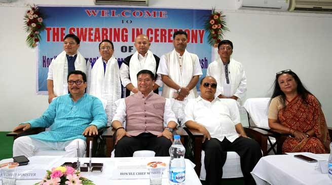 Arunachal- CM inducted Five new Parliamentary Secretaries