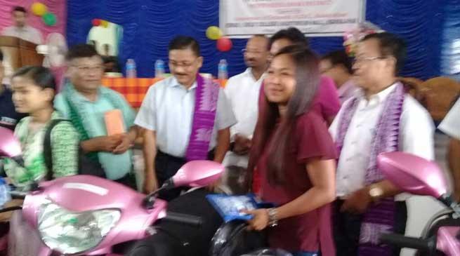 BTC distributes scooties to meritorious girl students