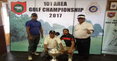 Shillong Golf club wins the 101 Area golf championship 2017