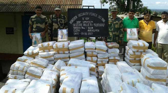 BSF Seized Huge Quantity of Saree and Betel Nut