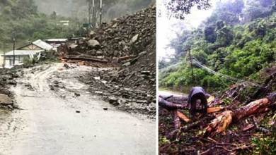 Heavy rainfall triggered multiple landslide in Bomdila, Dirang ,Kalaktang