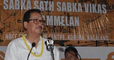 Chowna Mein attend the 'Sabka Sath Sabka Vikas' Sammelan at Nagaland