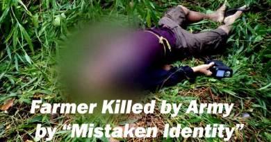 "Arunachal- Farmer killed by Army in Changlang in ""Mistaken Identity"""