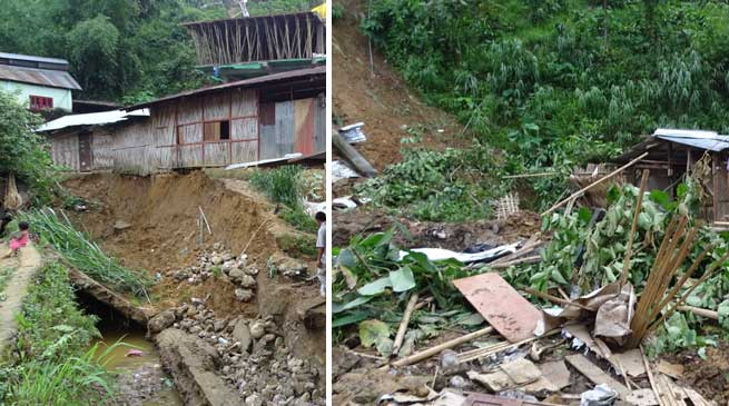 Itanagar- 1 dead 3 injured in landslide in capital town