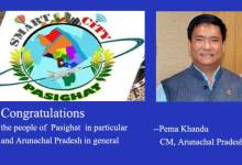 Photo of Pasighat Smart City- Khandu Congratulates people