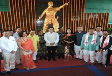 Photo of Sonowal unveiled statue of Bir Lachit Borphukan at Dinjan Military Station