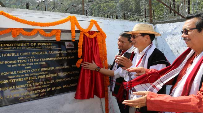 Khandu dedicates Pasighat-Roing-Tezu transmission systems to the State