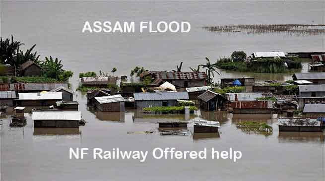 NF Railway Offered help for flood affected areas, running special trains