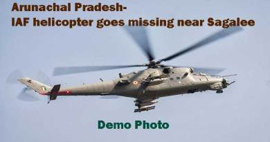 Arunachal Pradesh- IAF helicopter goes missing near Sagalee