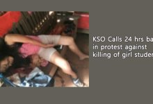 KSO Calls 24 hrs bandh in protest against killing of girl student
