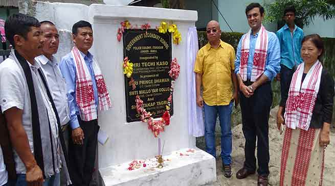 Kaso inaugurates up-graded Secondary School at Police Colony