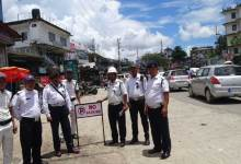Itanagar- No Parking Zone at Bank Tinali