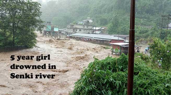 5 year girl drowned in Senki river, Massive landslide all over state