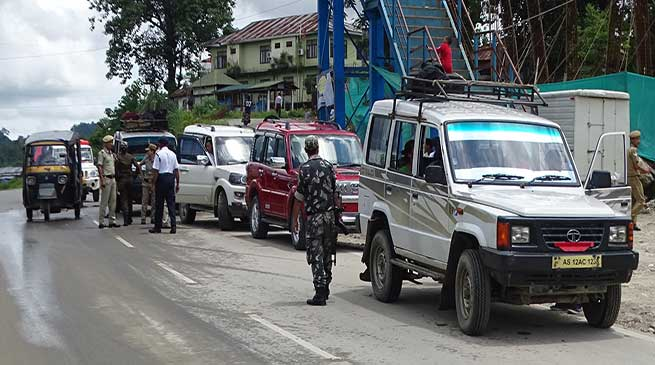 Itanagar police warned stern action against defaulters of number plates in vehicle