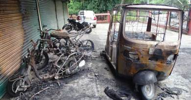 Miscreant burnt down three vehicles at wee hours