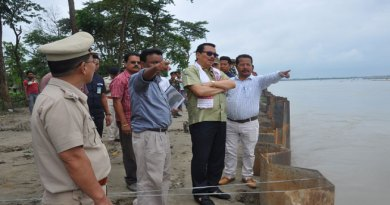 Deputy CM Chowna Mein visited flood affected areas of state.
