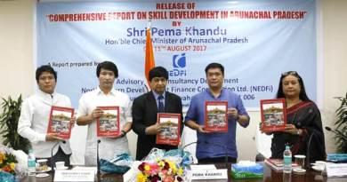 Khandu releases report on 'Skill Development in Arunachal Pradesh' compiled by NEDFI