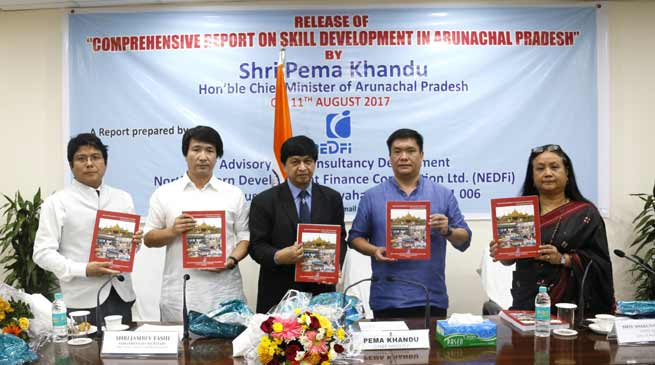 Khandu releases  report on 'Skill Development in Arunachal Pradesh' compiled by NEDFI