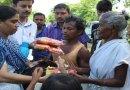 Army Public School (APS), Tezpur distribute flood relief item to villagers