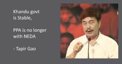 Khandu govt is Stable, PPA is no longer with NEDA- Says Tapir Gao