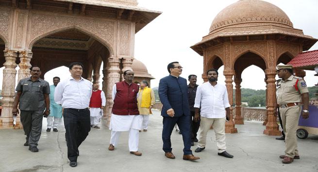 CM Pema Khandu visits Ramoji Film City