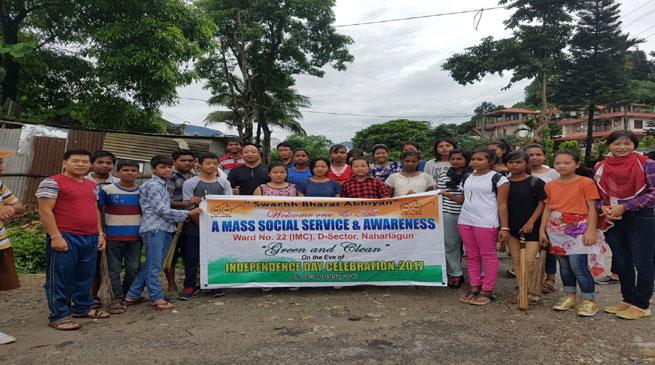 Naharlagun-Mass social service at D Sector area