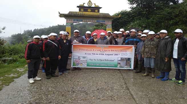 Bomdila- Swachh Bharat Abhiyan organised at Pedung Village