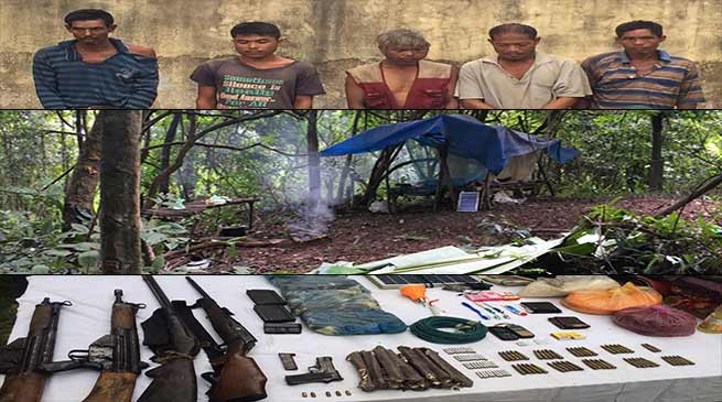 Army busted HNLC camp and recovered Arms and Ammunition in Karbianglong