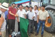 Chowna Mein flag off 4-Lanning of NH-415 from Chandranagar to Papu Nallah