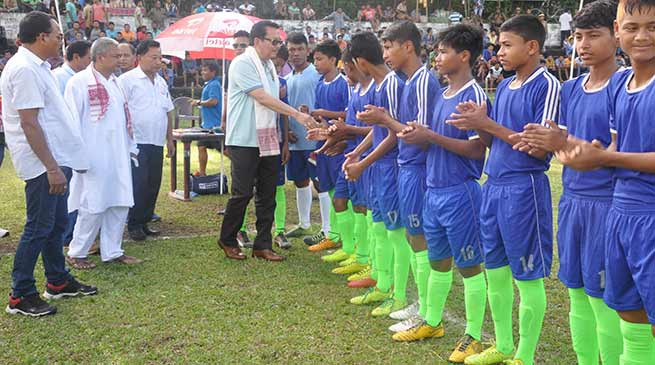Chowna Mein witness 40th All Assam Inter-Districts Sub-Junior Football Tournament at Chapakhowa