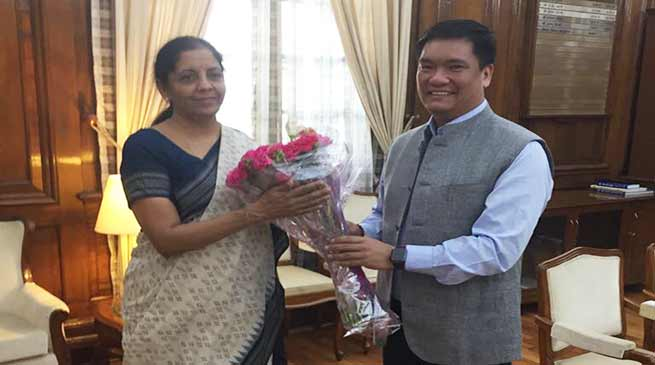 Khandu request Nirmala Sitharaman for establishment of Sainik Schools in Arunachal