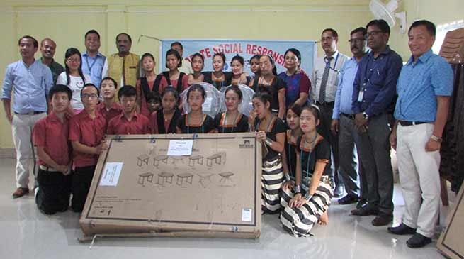 SBI donates school furniture to Donyi Polo School of Hearing Impaired