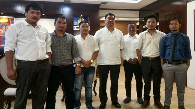 SUMAA delegation meets with CM Khandu on TRP issue