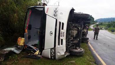 Photo of Bus carrying CRPF meet accident near Yupia, 9 injured