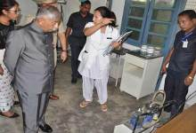 Guv BD Misra makes surprise visit to healthcare centres