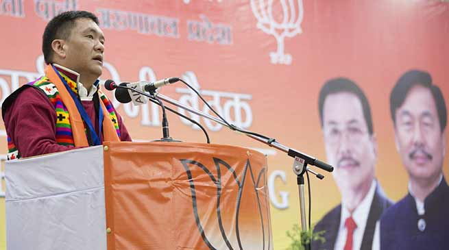 My Govt will solve all pending issues, for this ready to face any problems- Pema Khandu