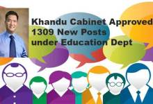 Photo of Khandu Cabinet Approved 1309 teaching and non teaching posts under Education Dept