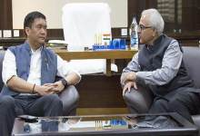 Photo of Khandu discuss implementation status of DDUGJY in Arunachal