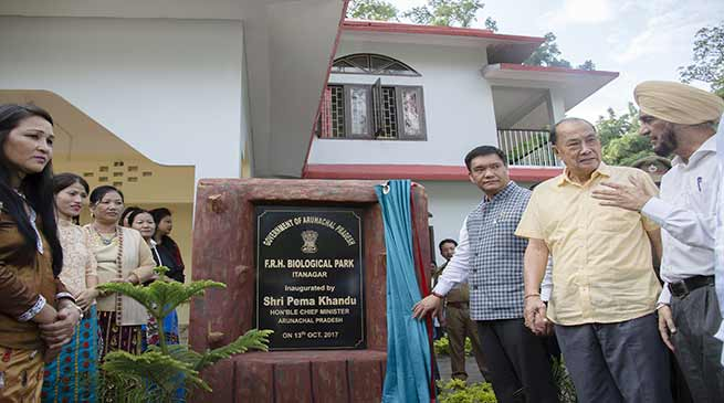 CM Khandu inaugurates Forest Rest House at Itanagar Biological Park