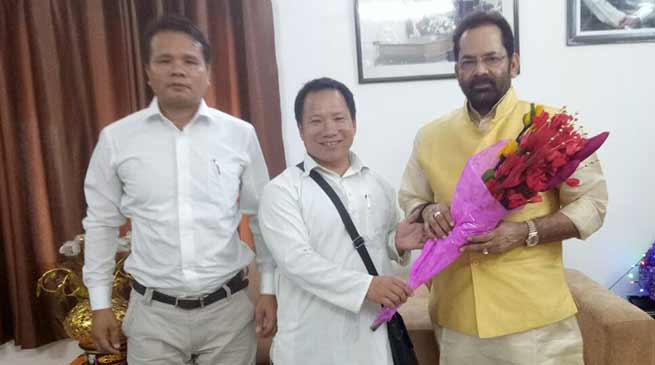 State Minority Morcha leader meet Union Minister Mukthar Abbas Naqvi